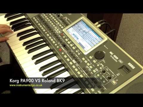 Korg PA900 vs Roland BK9 Keyboard
