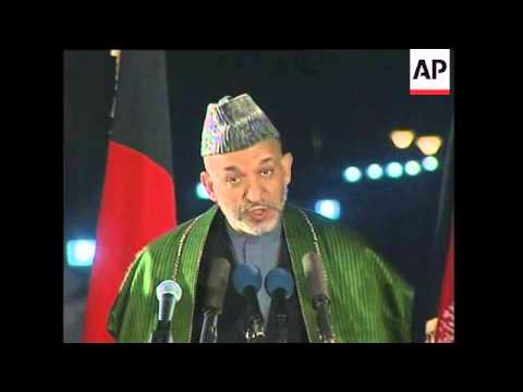 Afghan president comments following elction victory