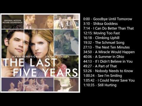 The Last Five Years Soundtrack (In Chronological Order)