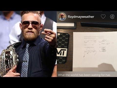 "CONOR MCGREGOR SIGNS CONTRACT FOR MAYWEATHER FIGHT; SOURCE SAYS FIGHT IS ""100% HAPPENING"""