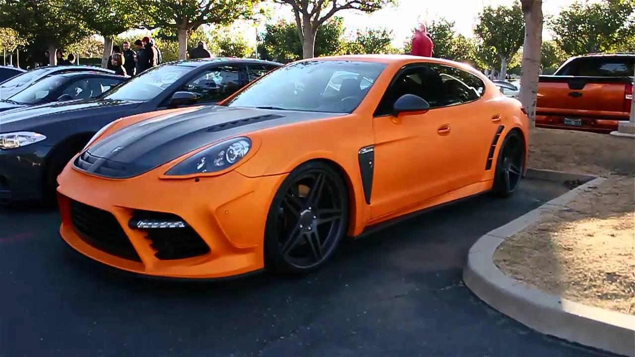 Matte Orange Porsche Panamera Cars And Coffee 2013 Youtube