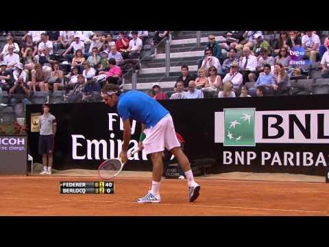 Carlos Berlocq  vs Roger Federer 2R Roma 2012