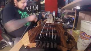 time lapse restringing a kiesel vader 6 string bass