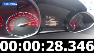 2016 Peugeot 308 GTi 270 FAST! 0-248 km/h Autobahn Acceleration Top Speed