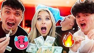 Last One To DRINK Water WINS $10,000 - Spicy Food Challenge