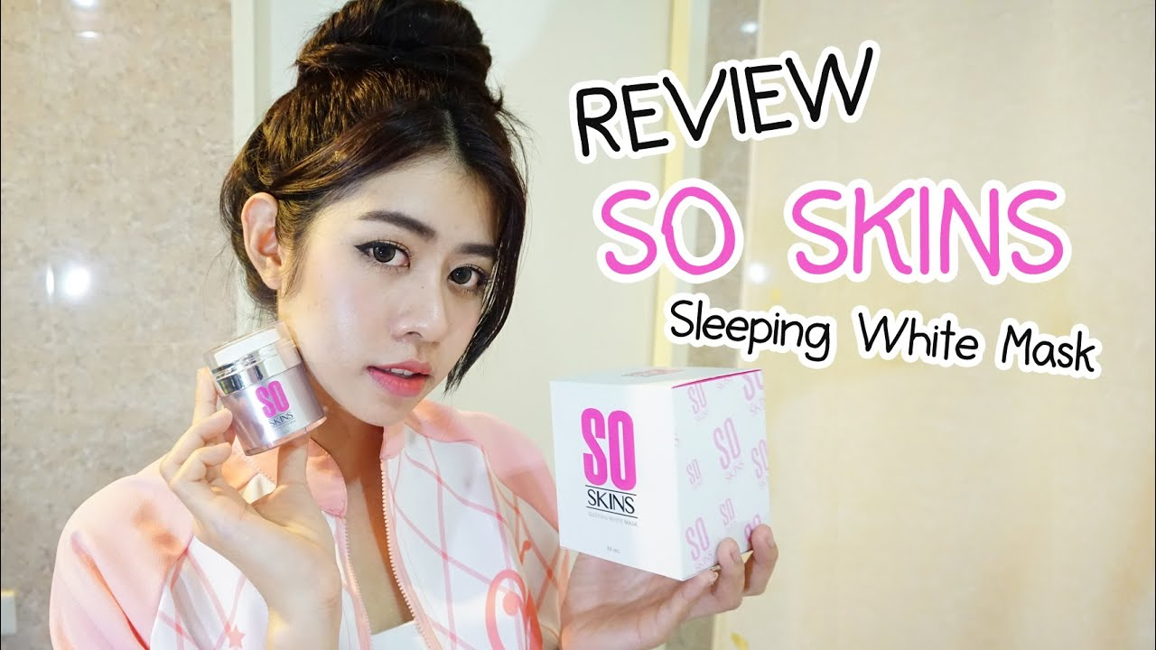 REVIEW So Skins Sleeping White Mask