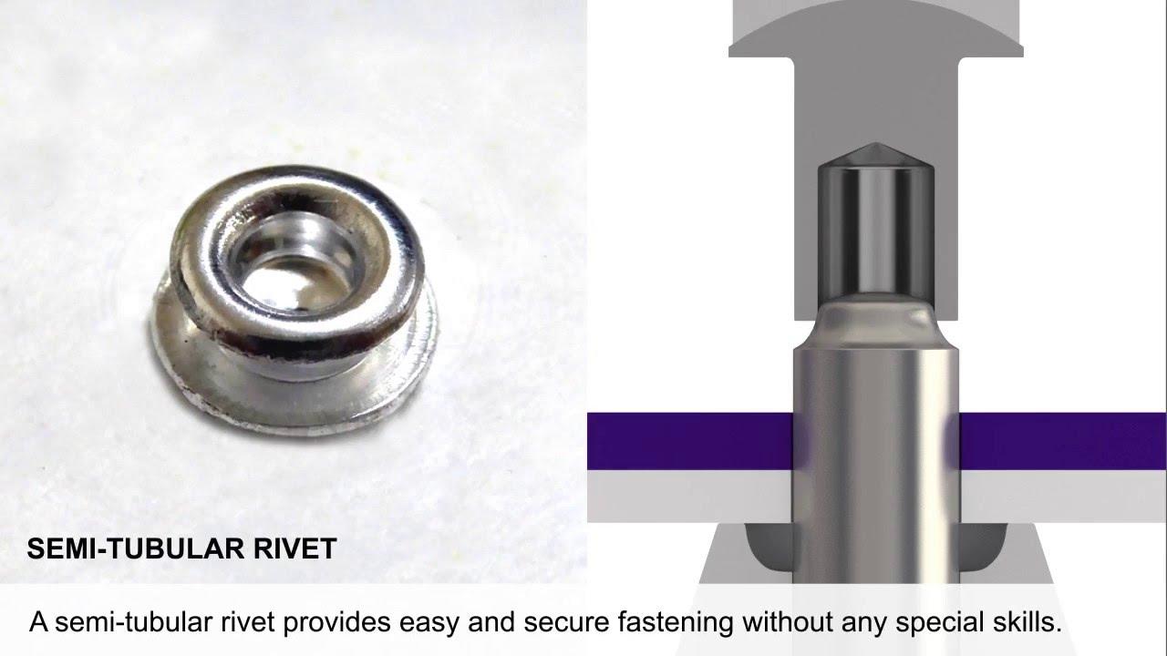 Semi Tubular Rivet Tool : Semi tubular rivet fastening movie youtube