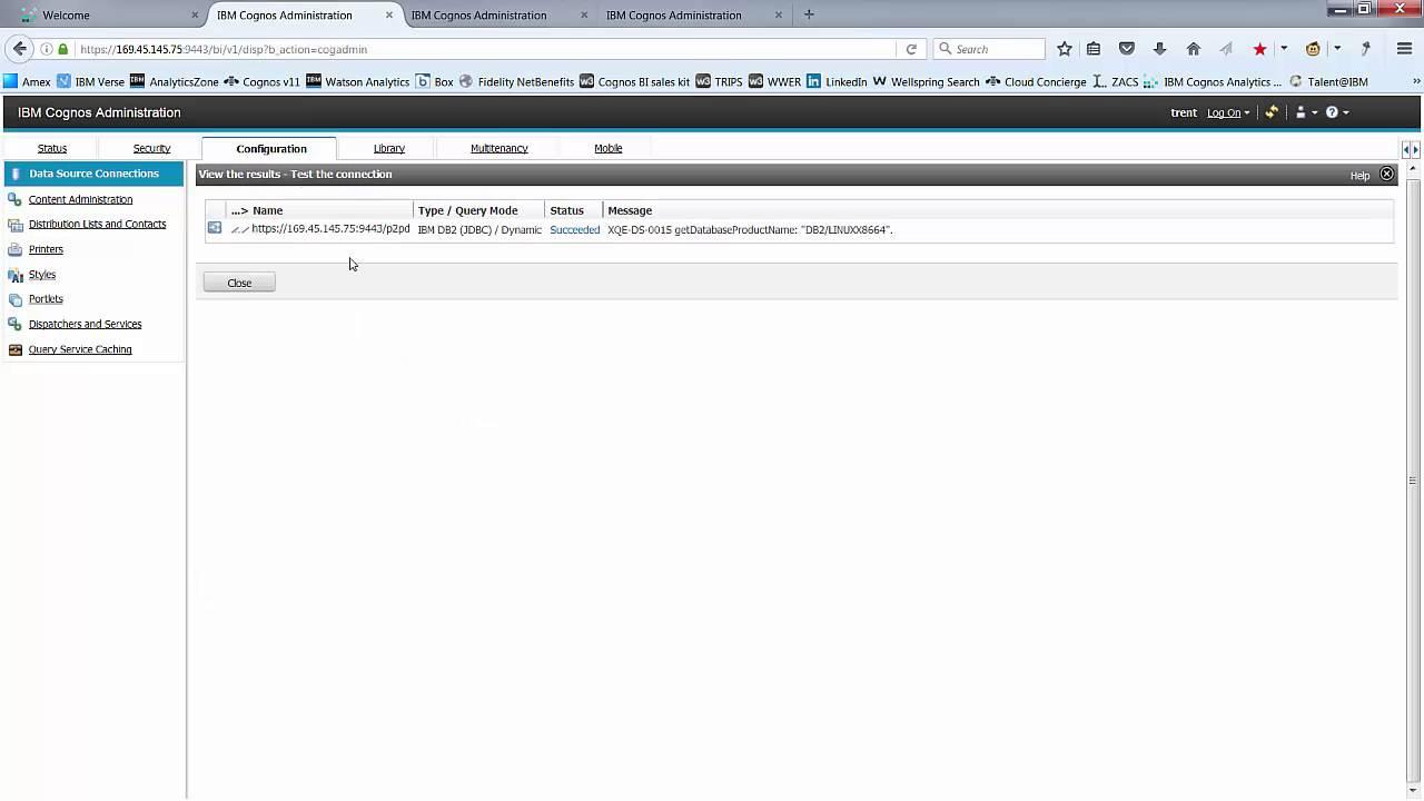 IBM Analytics - Cognos Analytics - Connecting to Data Sources