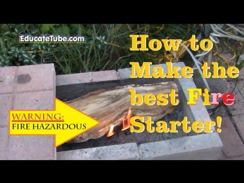How to make waterproof fire starter from wax, lint & wood dust better than commercial firestarter!