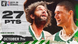 Lopez Brothers Full Highlights vs Chicago Bulls (2019.10.07) - 27 Pts Combined!
