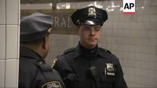 NYPD Commissioner Bratton Tours Subway