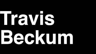 How to Pronounce Travis Beckum New York NY Giants NFL Football Touchdown TD Tackle Hit Yard Run