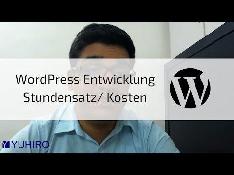 WordPress Entwicklung/ Entwickler Stundensätze, Preise, Kosten, Aufwand