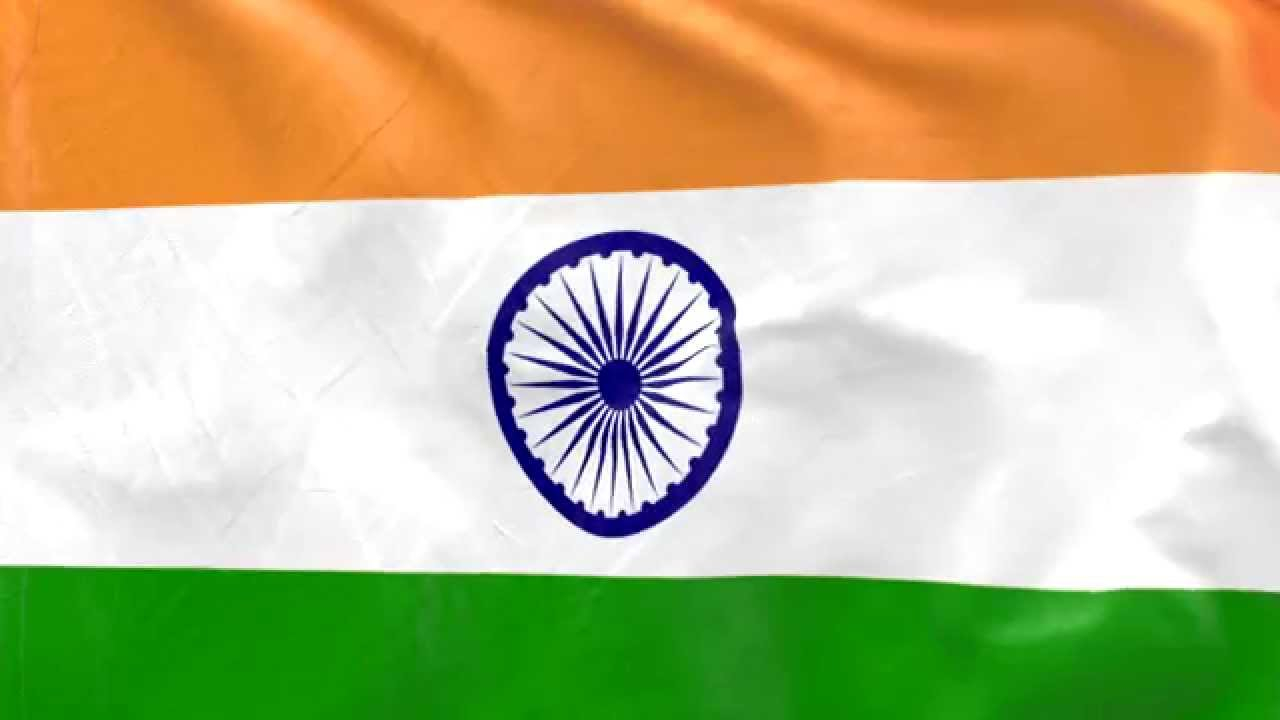 Indian Flag Animated: Flag Animation: Indian Flag Animation, Slow Motion Flag