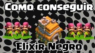 Clash of Clans - Como conseguir Elixir Negro no centro de vila 7 !
