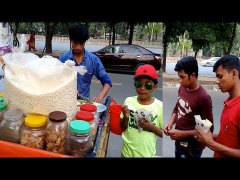 Muri vorta or masala muri recipe High way road side street food spicy mix muri makha at Dhaka