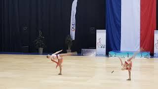 bravolavie. TWIRLING Finale France 2019 Duo M.Candice & Noémie