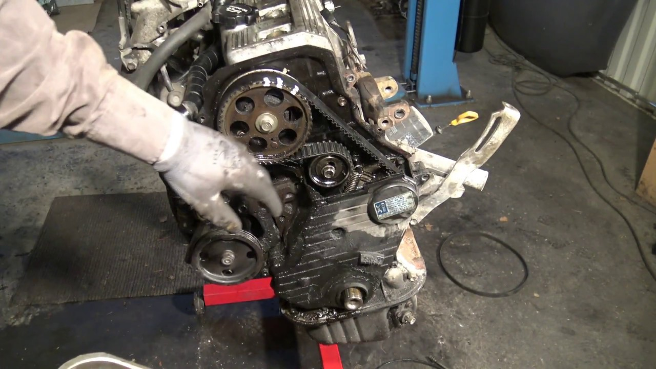 How to replace timing belt Toyota Camry 2 2 5S FE engine
