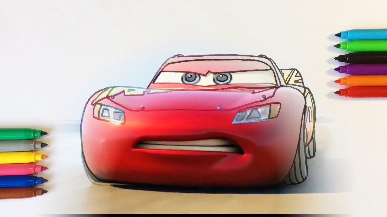Cars 3 Lightning McQueen Coloring Pages For Children With