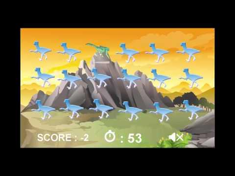 เกมส์จับคู่ภาพไดโนเสาร์ Dinomatch