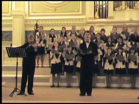 Ф. Шуберт - Аве Мария. исп. Андрей Максимов и Детский хор Радио и Телевидения Санкт-Петербурга