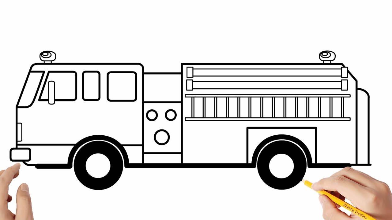 Comment Dessiner Un Camion De Pompiers Youtube