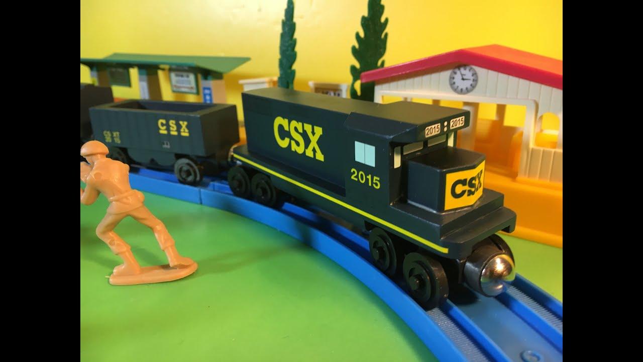 02358 Wooden Whittle Shortline Railroad Csx Transportation