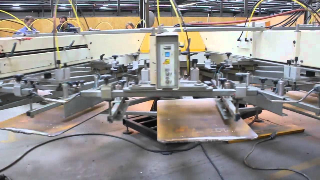 Tas 16 Color 18 Station Press Used Screen Printing Equipment For Sale Youtube