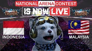 🔴 [LIVE] Indonesia vs Malaysia National Arena All Star - Mobile Legends Bang Bang