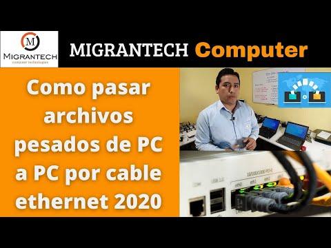 Como pasar archivos pesados de PC a PC por cable ethernet 2020 sin programas
