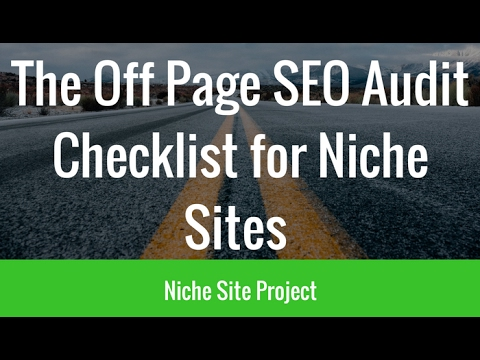 Off Page SEO Audit Checklist for Niche Sites