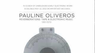 PAULINE OLIVEROS   REVERBERATIONS: ELECTRONIC & TAPE MUSIC 1961 - 1970 12CD BOX SET TRAILER