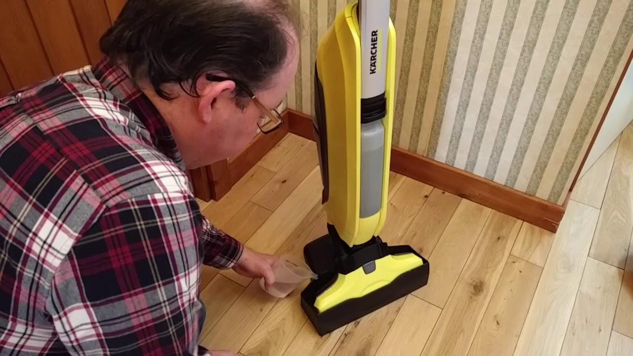 karcher fc5 hard floor cleaner in action youtube. Black Bedroom Furniture Sets. Home Design Ideas