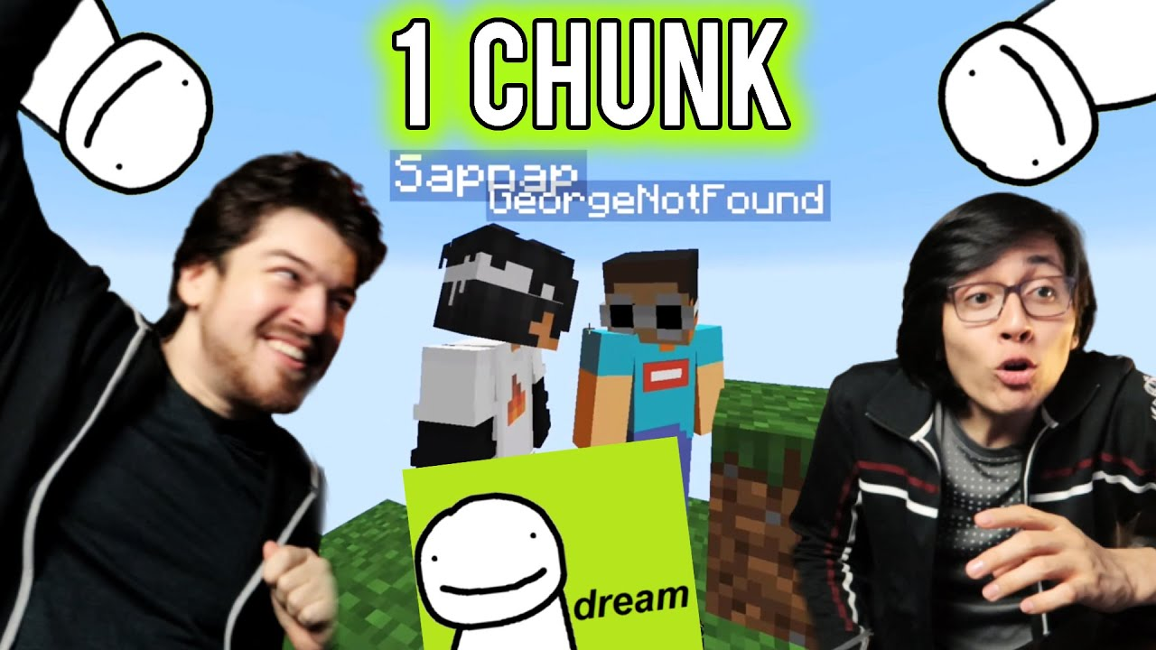Minecraft, But We React To Dream And Friends Seeing Only One Chunk... (GeorgeNotFound | Sapnap)