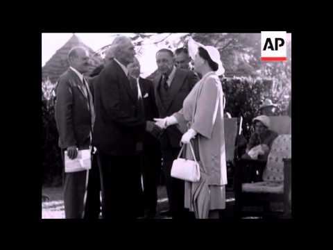 QUEEN MOTHER and PRINCESS MARGARET CONTINUE SOUTHERN RHODESIA TOUR - NO SOUND