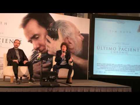 Michel Franco presentando 'Chronic: El Último Paciente'