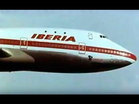 Historia de la aerolínea IBERIA - Aviones históricos Boeing 727-256 Douglas DC-9 DC-8 (1977)