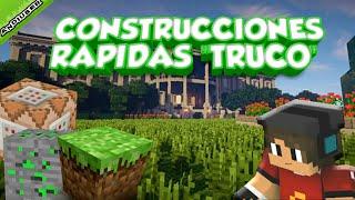 CONSTRUCCIONES RAPIDAS    | TRUCO CON COMANDOS | MINECRAFT PE 1.2 | FACIL Y UTIL