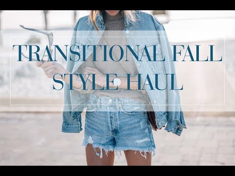 Transitional Summer to Fall Style Try-On Haul: H&M, Madewell, AG and more