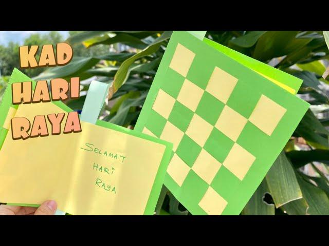 Hari Raya Craft Ketupar Raya Card Youtube