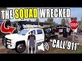 SQUAD'S TRUCK CRASHES ON INTERSTATE   TOWING WRECKAGE   FARMING SIMULATOR 2017