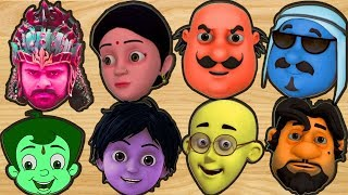 Learn Color With Motu Patlu Shiva Bheem Bahubali Sabziwali Shadow Matching Game Alphabet