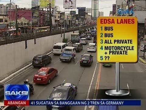 HOV lane sa EDSA, eksklusibo lang sa mga sasakyang 'di bababa sa dalawa ang sakay at mga motorsiklo