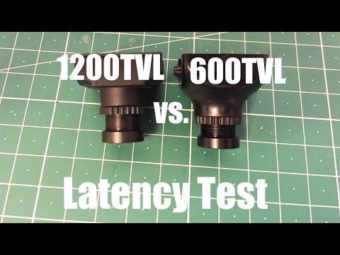 600TVL vs 1200TVL  FPV cam latency test