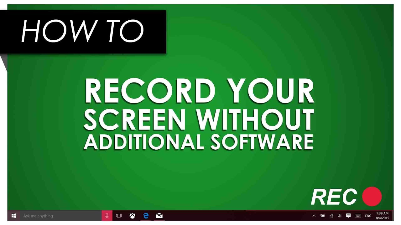 How to Record Your Screen in Windows 10 Using the Xbox App - YouTube