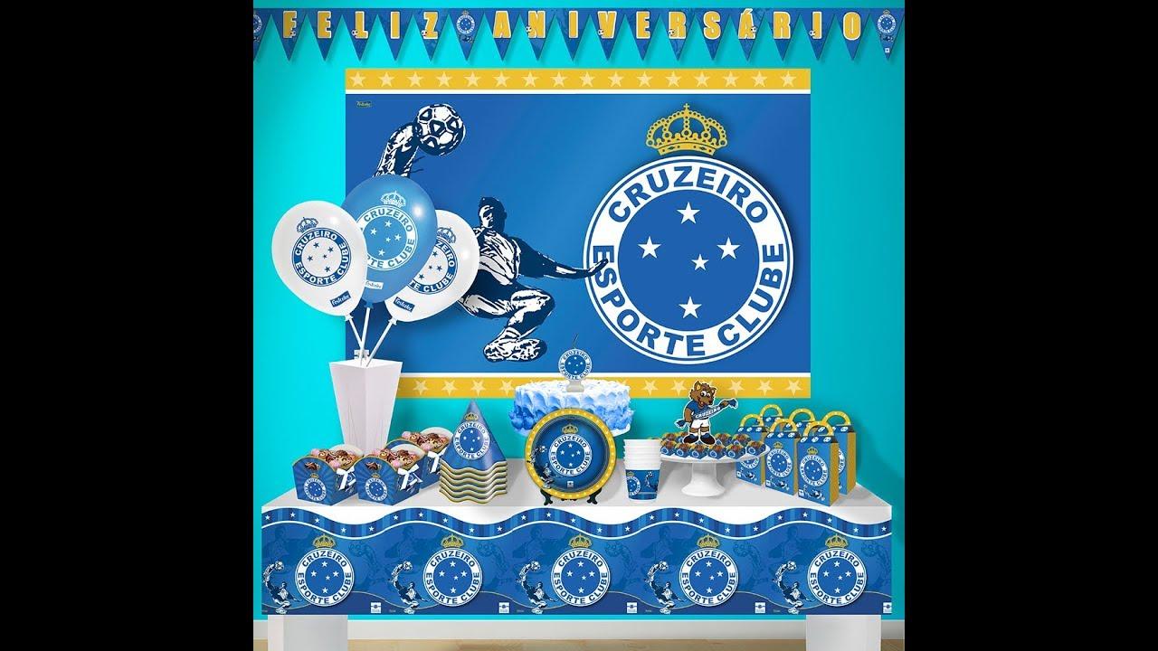 2dfac8dd91 Decoração de Festa do Cruzeiro Esporte Clube Tema - YouTube