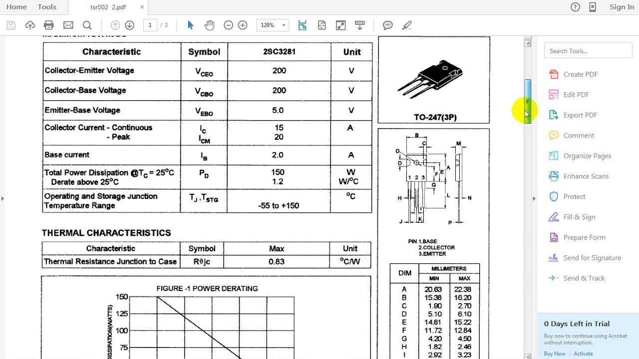 datasheet 2sc3281 ใช้แทนเบอร์ TSR002 ได้
