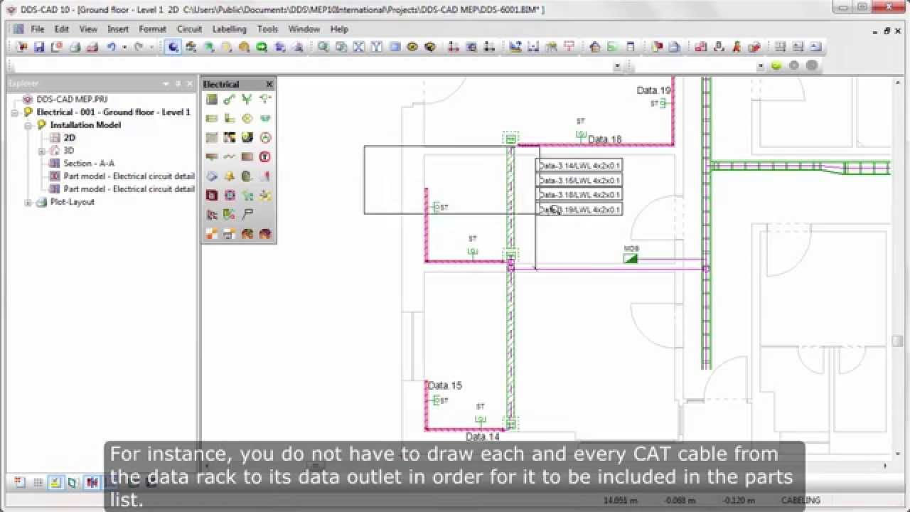 DDS-CAD Electrical: Designing and documenting data cabling systems