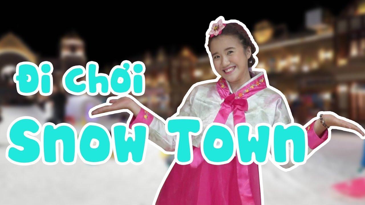 CÔ GÁI HÀN QUỐC VANNIE TRƯỢT TUYẾT Ở SNOW TOWN SÀI GÒN   VANNIE SPECIAL