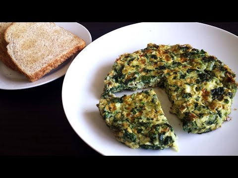 Spinach/Palak Omelette| Healthy Breakfast Recipe